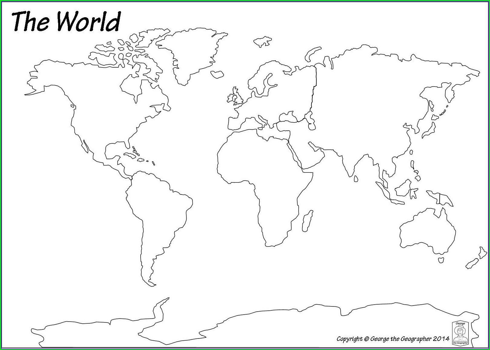 Pdf Free Printable Blank World Map