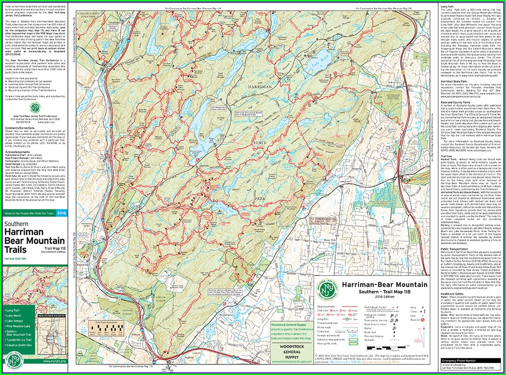 Pdf Harriman State Park Trail Map