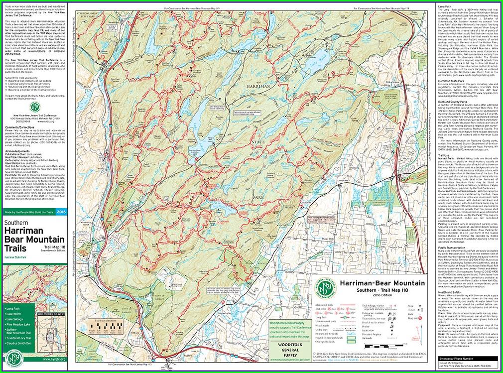 Pdf Harriman State Park Trail Map
