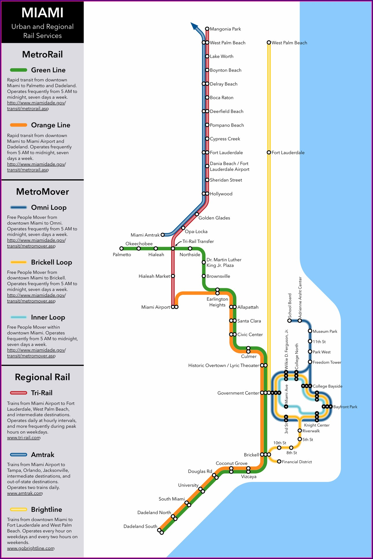 Pdf Metromover Miami Map