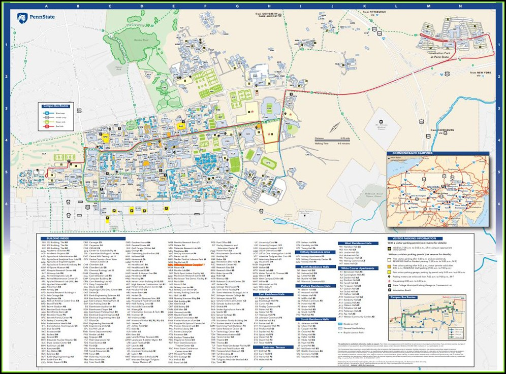 Penn State University Main Campus Map