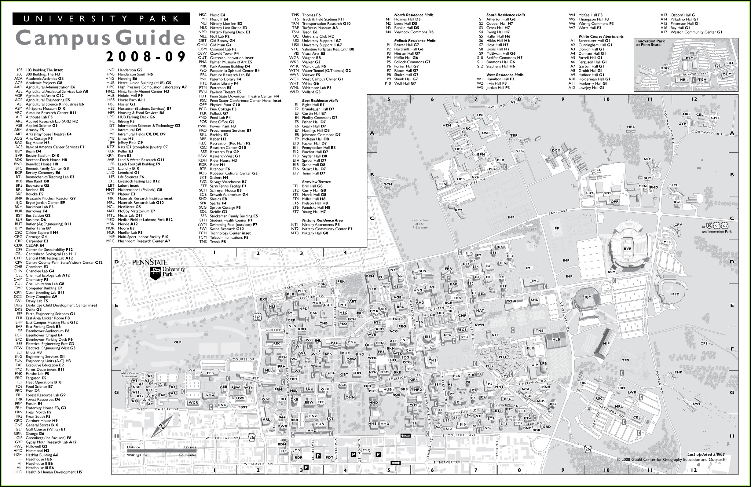 Pennsylvania State University Penn State Campus Map