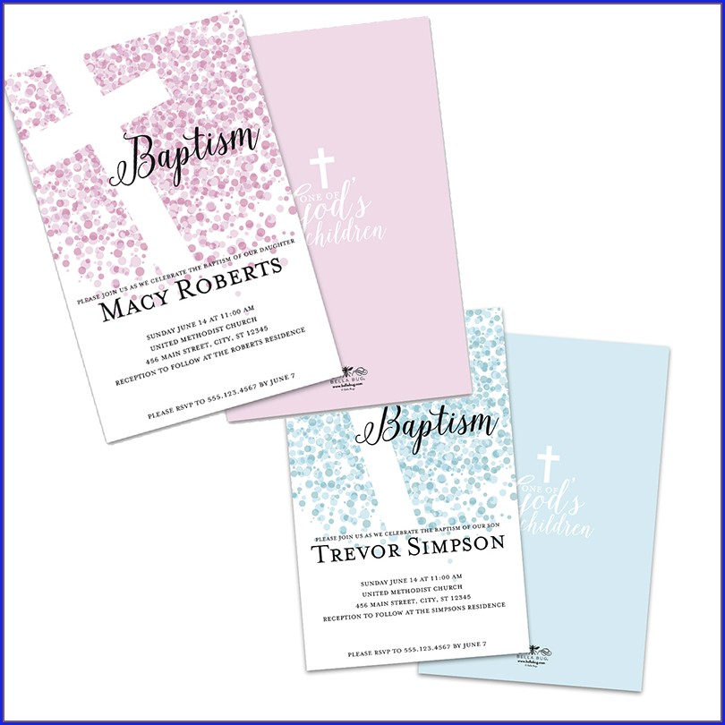 Personalized Baptism Invitations Walmart