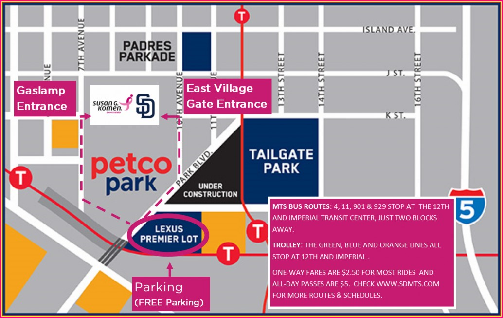 Petco Park Gate Map