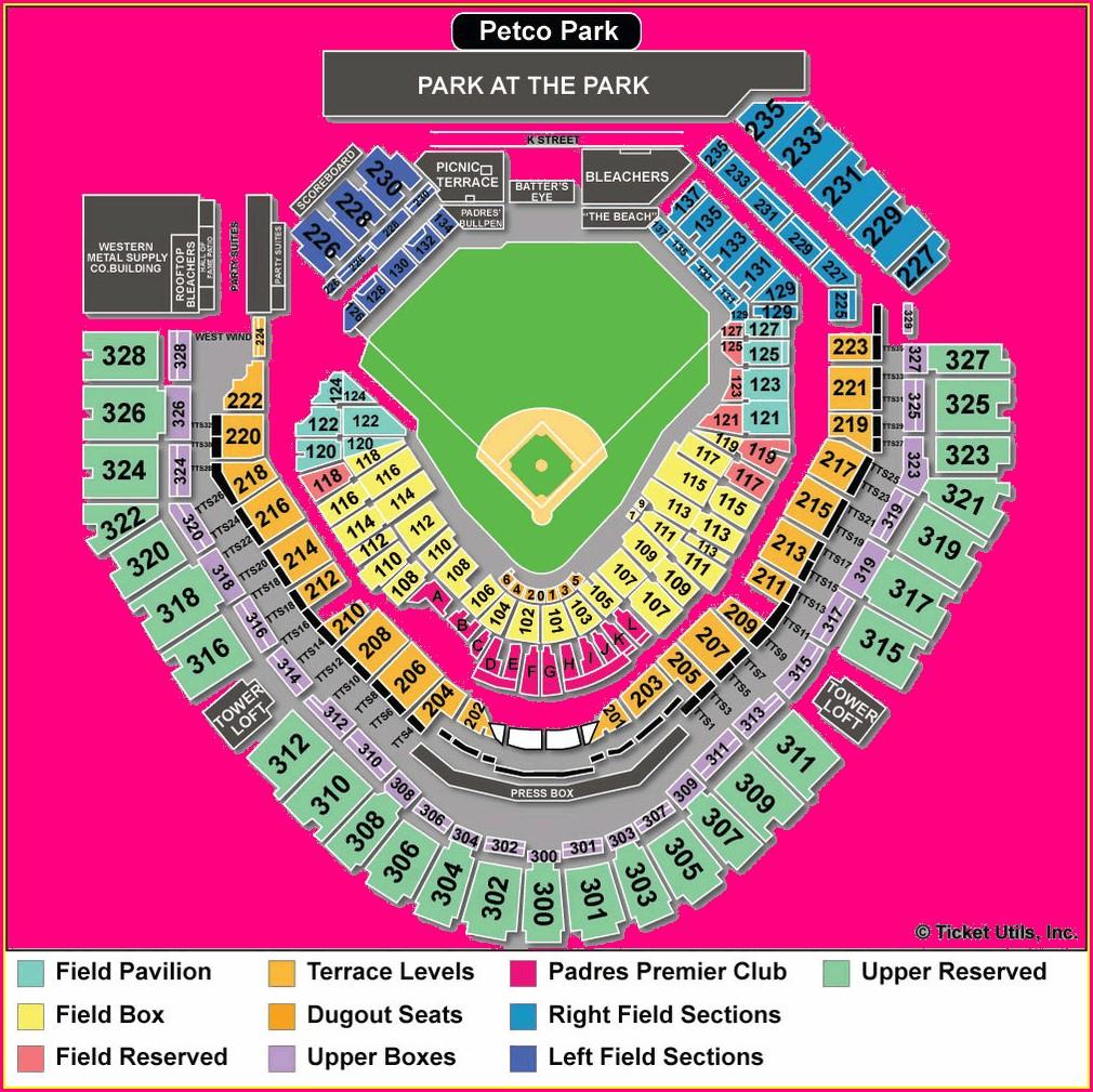 Petco Park Suite Map