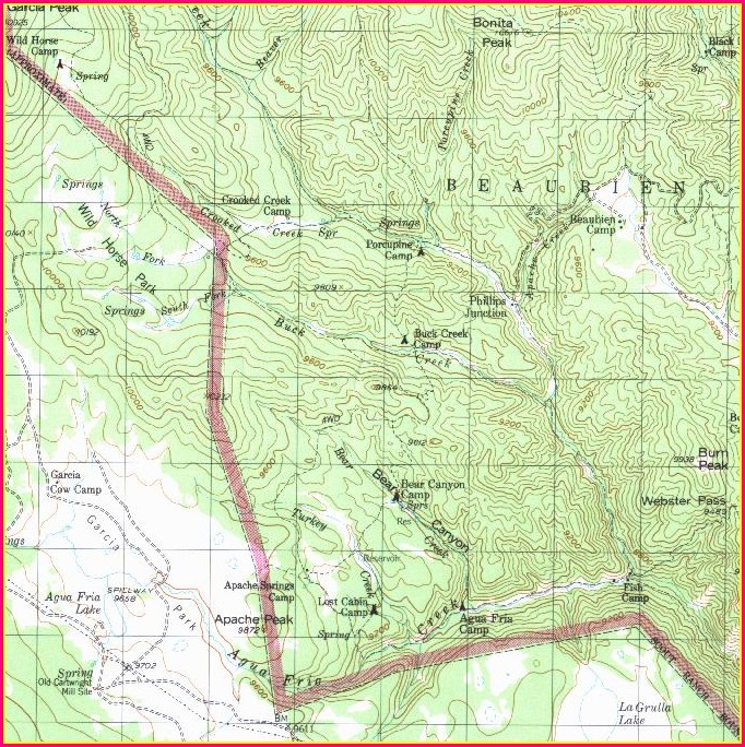 Philmont Scout Ranch Base Camp Map