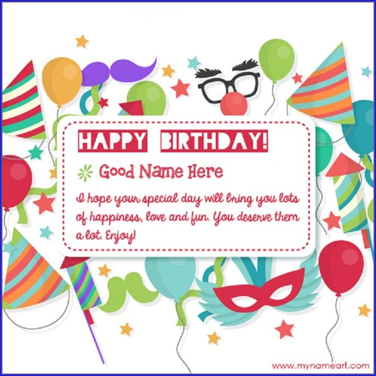 Photo Editing Birthday Invitation Card With Name