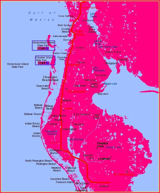 Pinellas Trail Map Distance