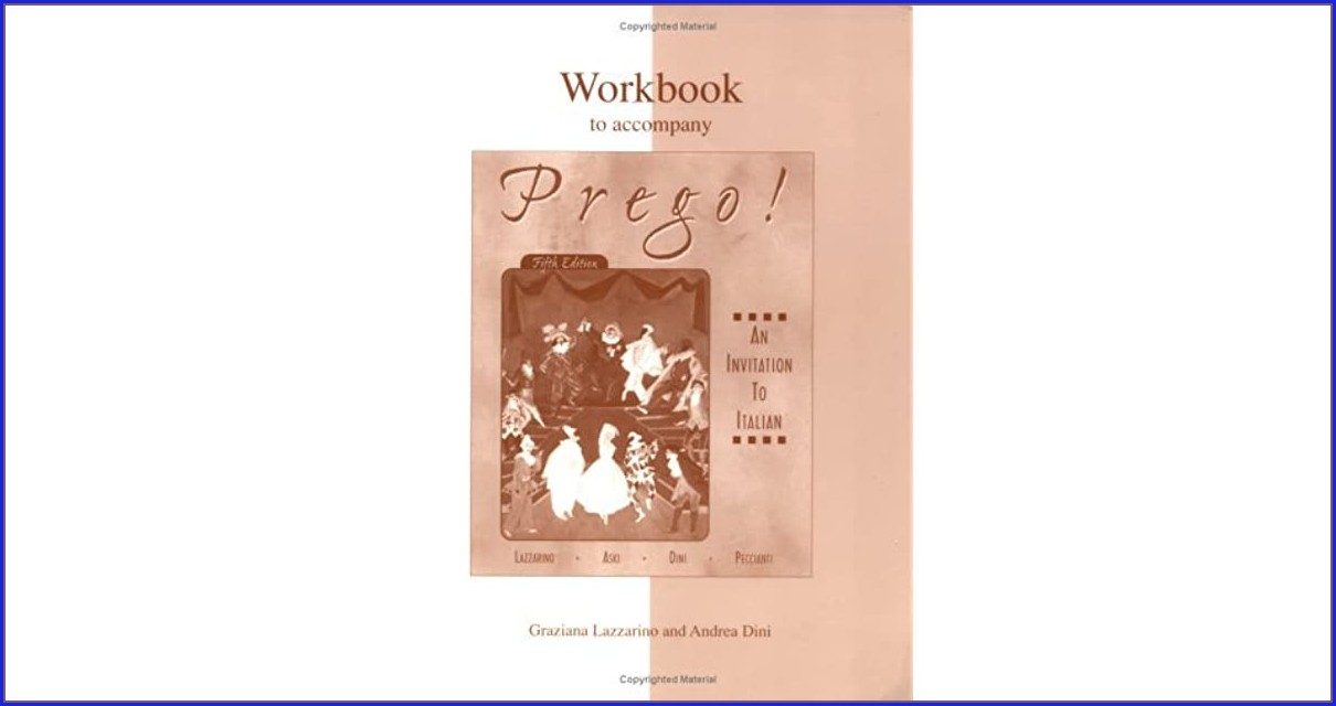 Prego An Invitation To Italian Workbook
