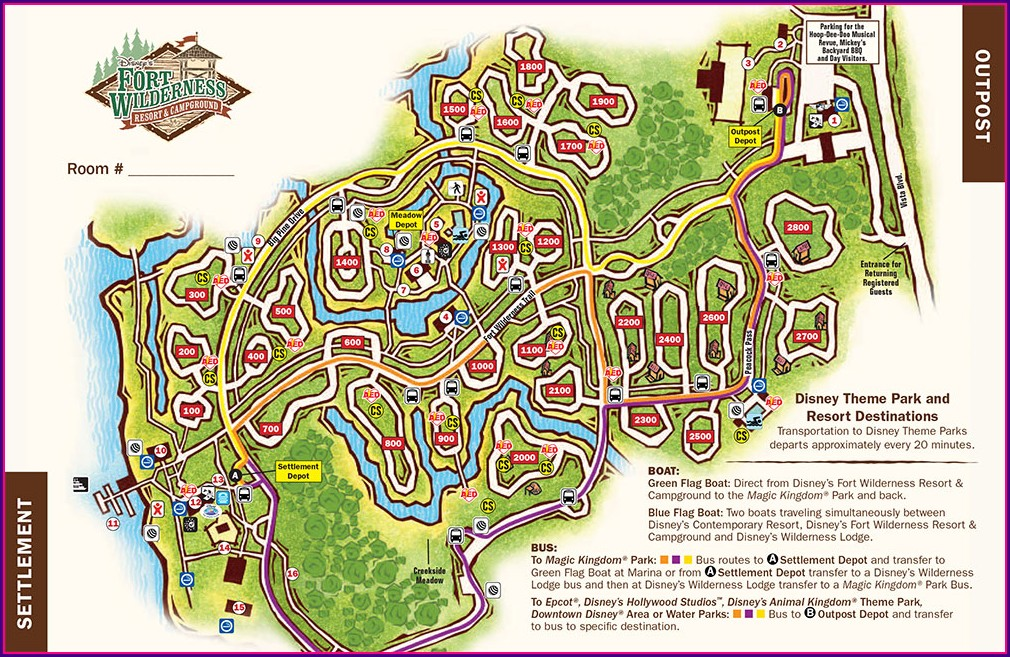 Premium Fort Wilderness Campground Map