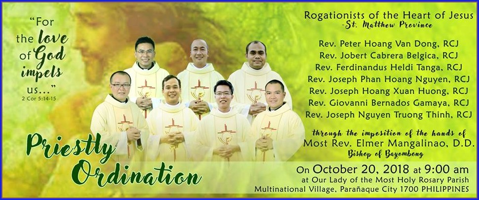 Priestly Ordination Invitation Cards