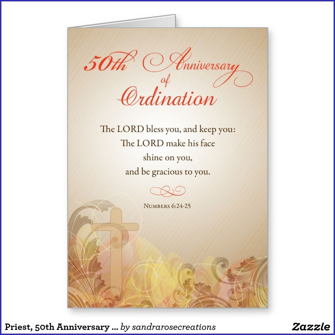 Priestly Ordination Ordination Invitation Card Sample