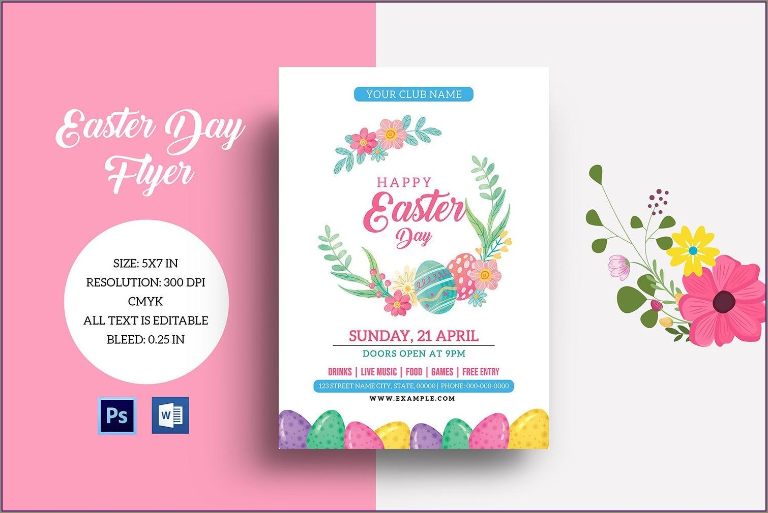 Printable Easter Egg Hunt Invitation Template