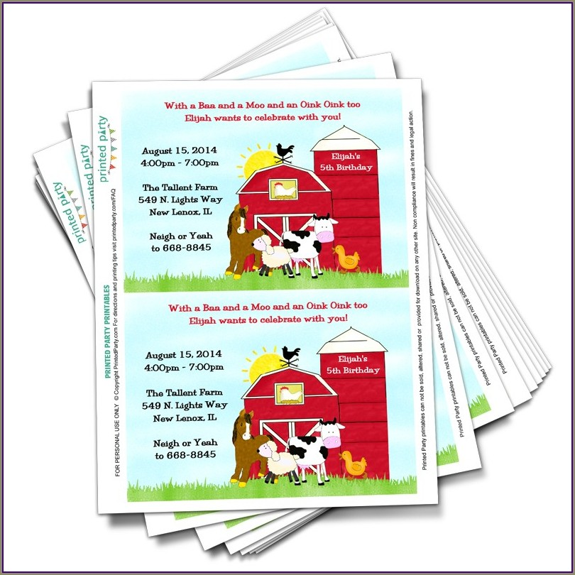 Printable Farm Invitation Template