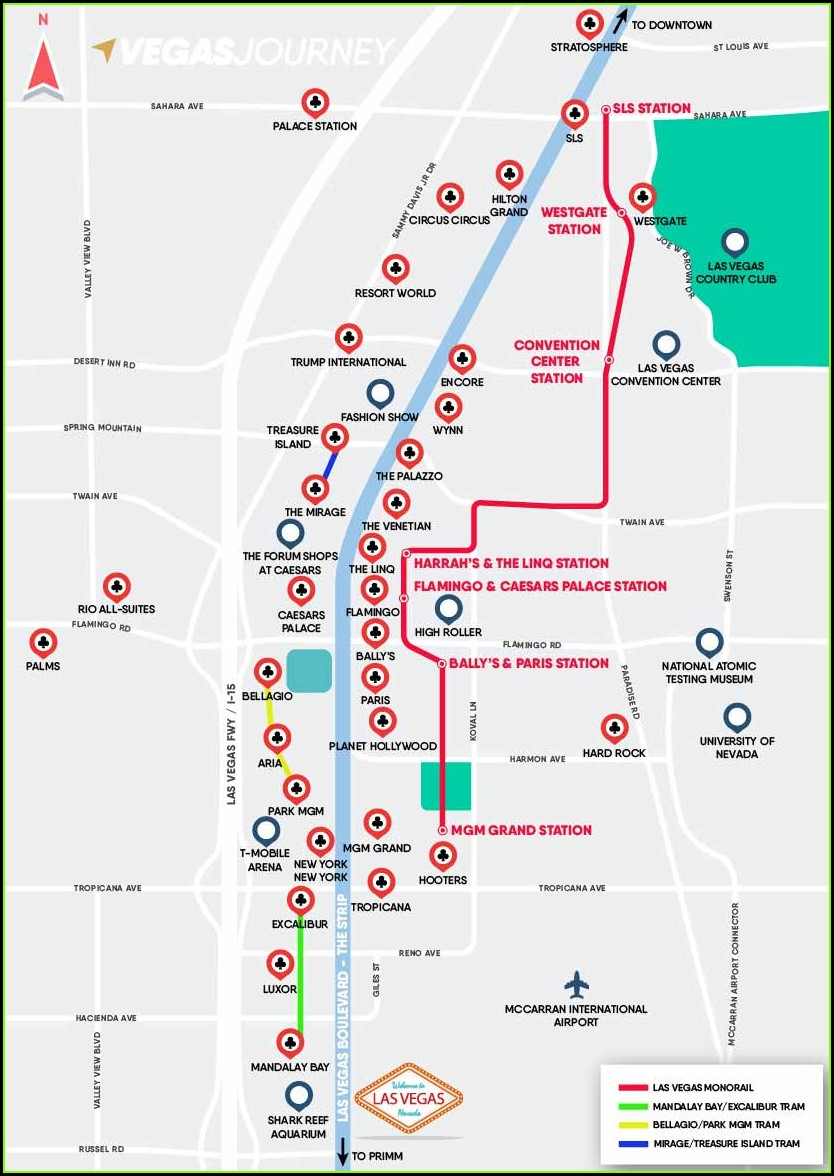 Printable Las Vegas Monorail Map
