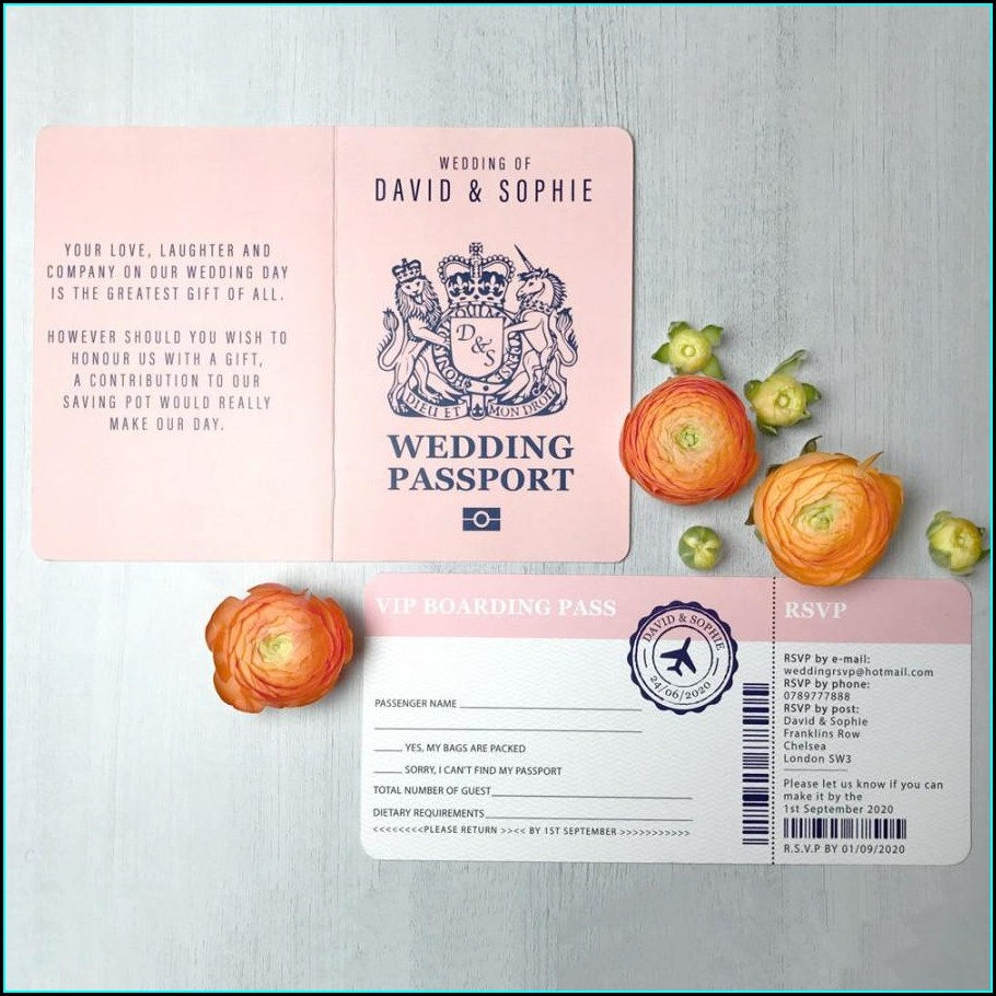 Printable Passport Invitation Template