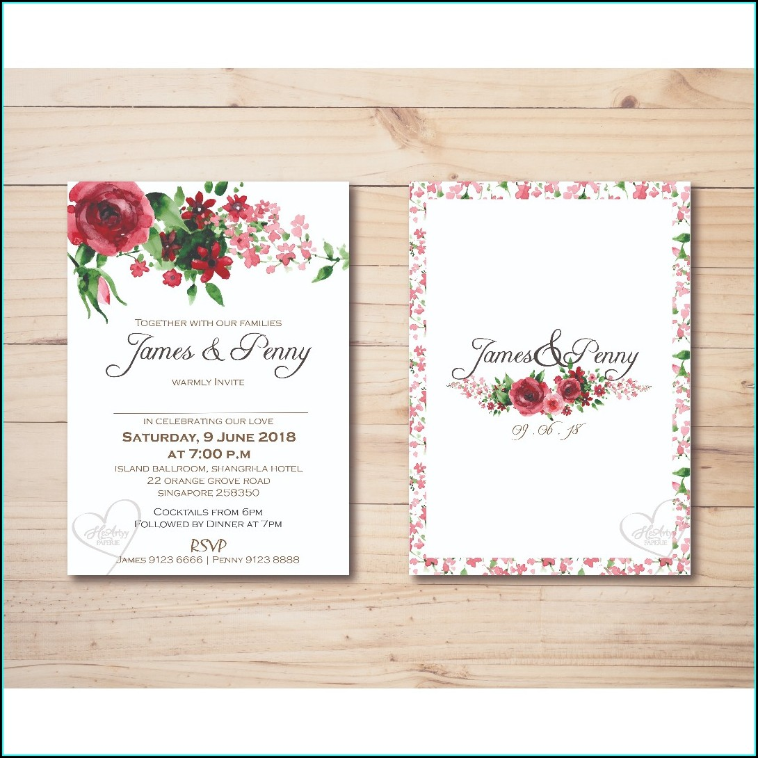 Printable Red Rose Invitation Template