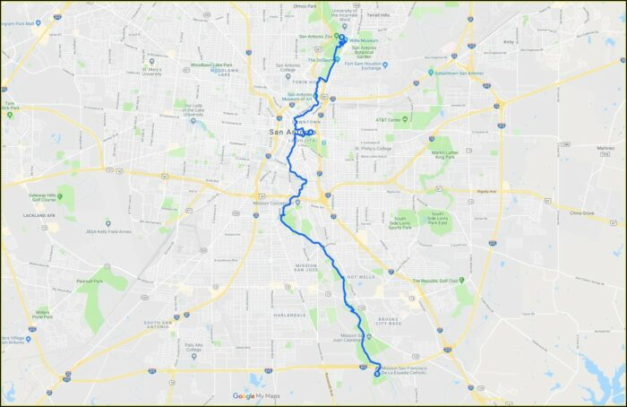 Printable San Antonio Riverwalk Map