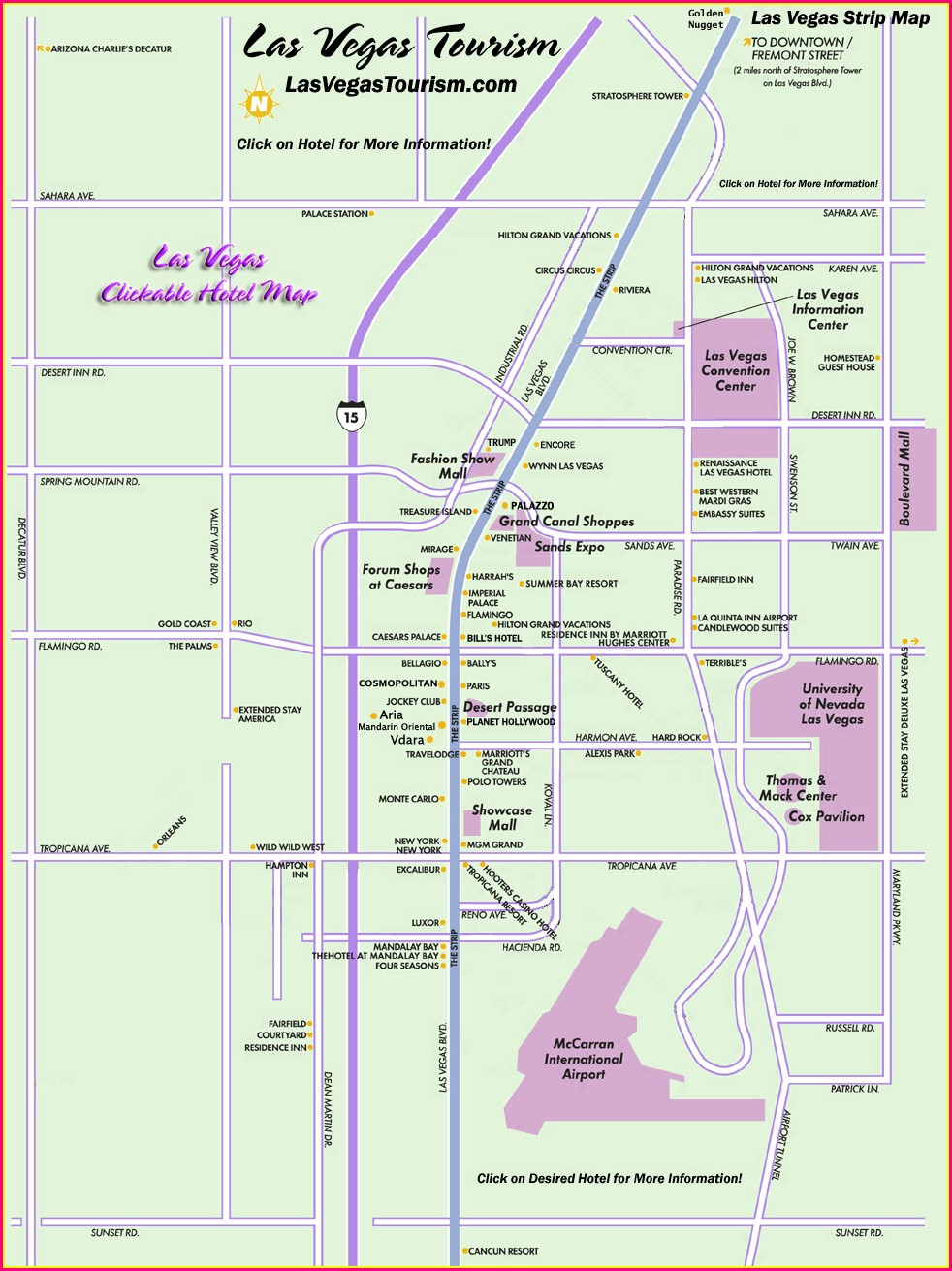 Printable Walking Map Of Las Vegas Strip