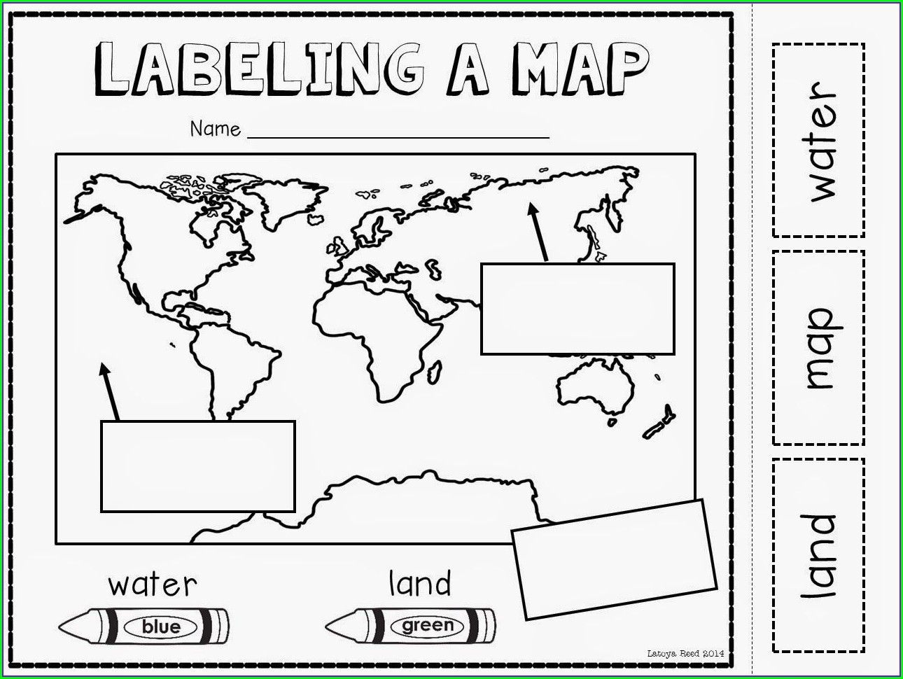 Printable Worksheet Free Printable World Map For Kids