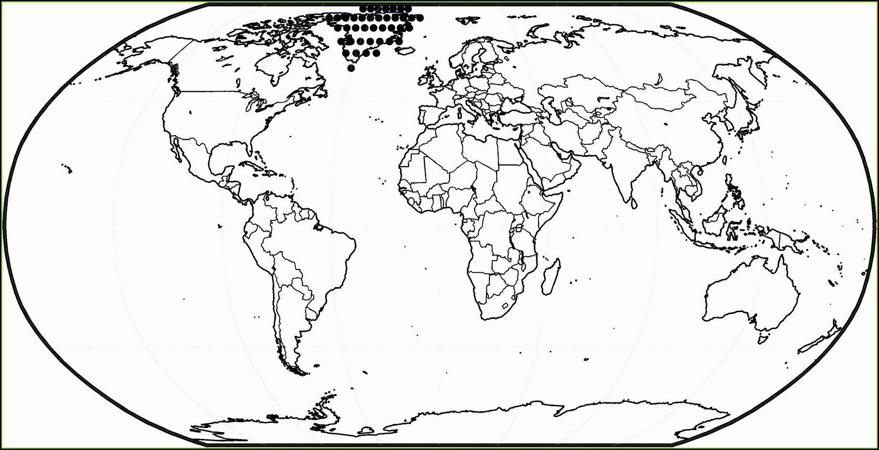 Printable World Map Coloring Page Pdf