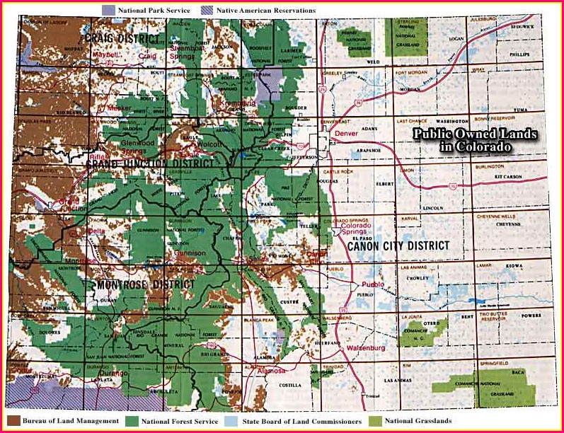 Public Blm Land Colorado Map