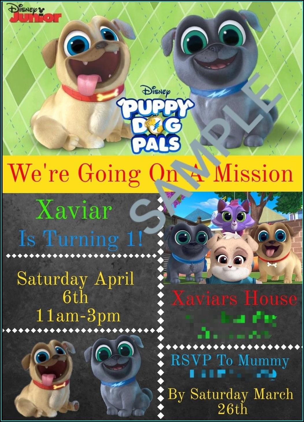 Puppy Dog Pals Birthday Invitations