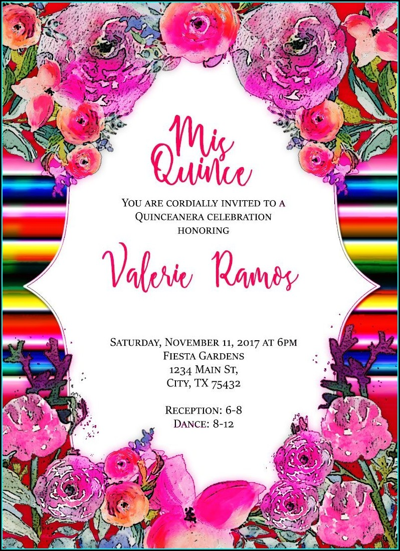 Quinceanera Borders For Invitations