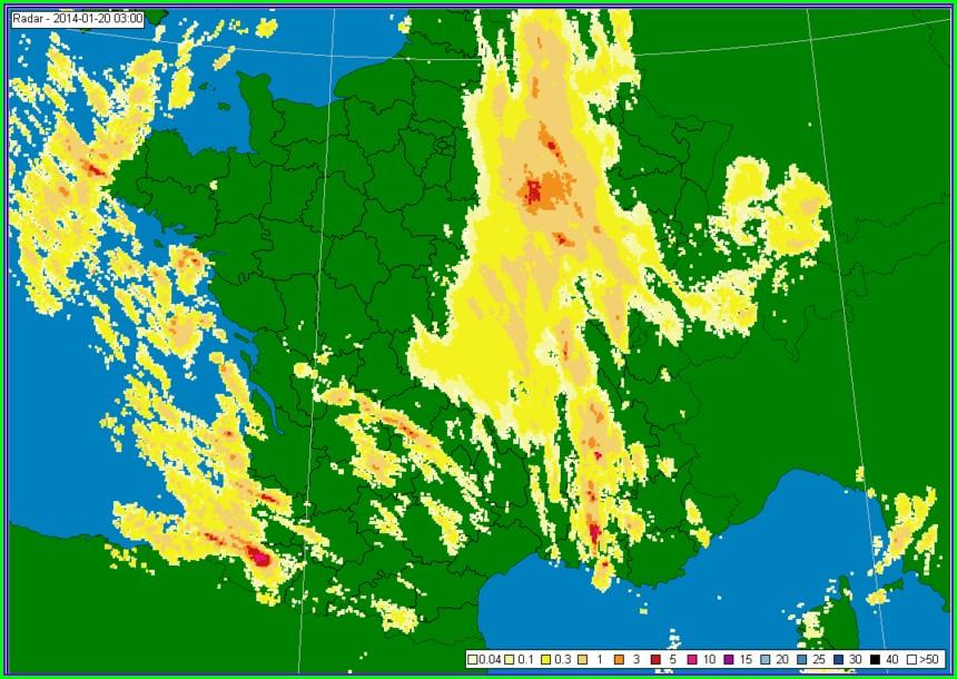 Rain Radar Map France