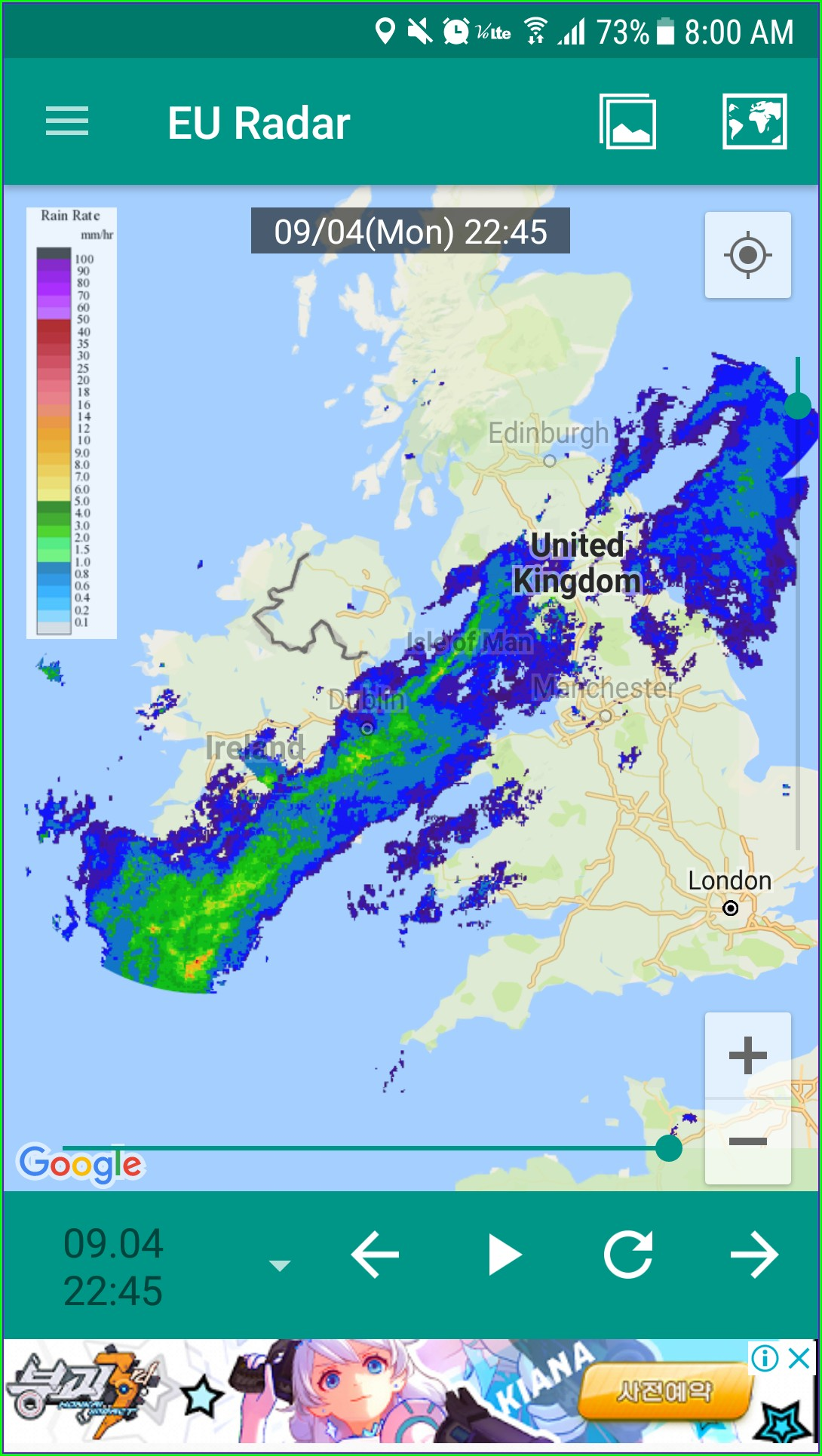 Rain Radar Map London
