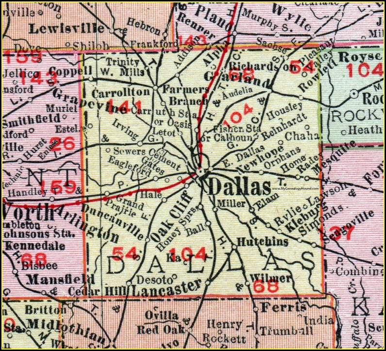 Rand Mcnally Map Of Texas