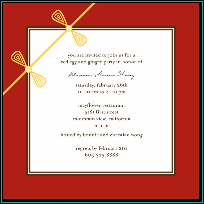 Red Egg And Ginger Invitations