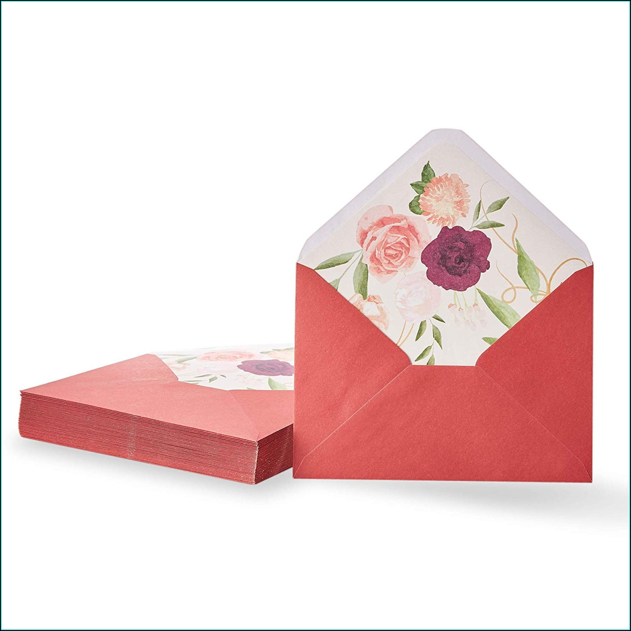 Red Invitation Envelopes 5x7