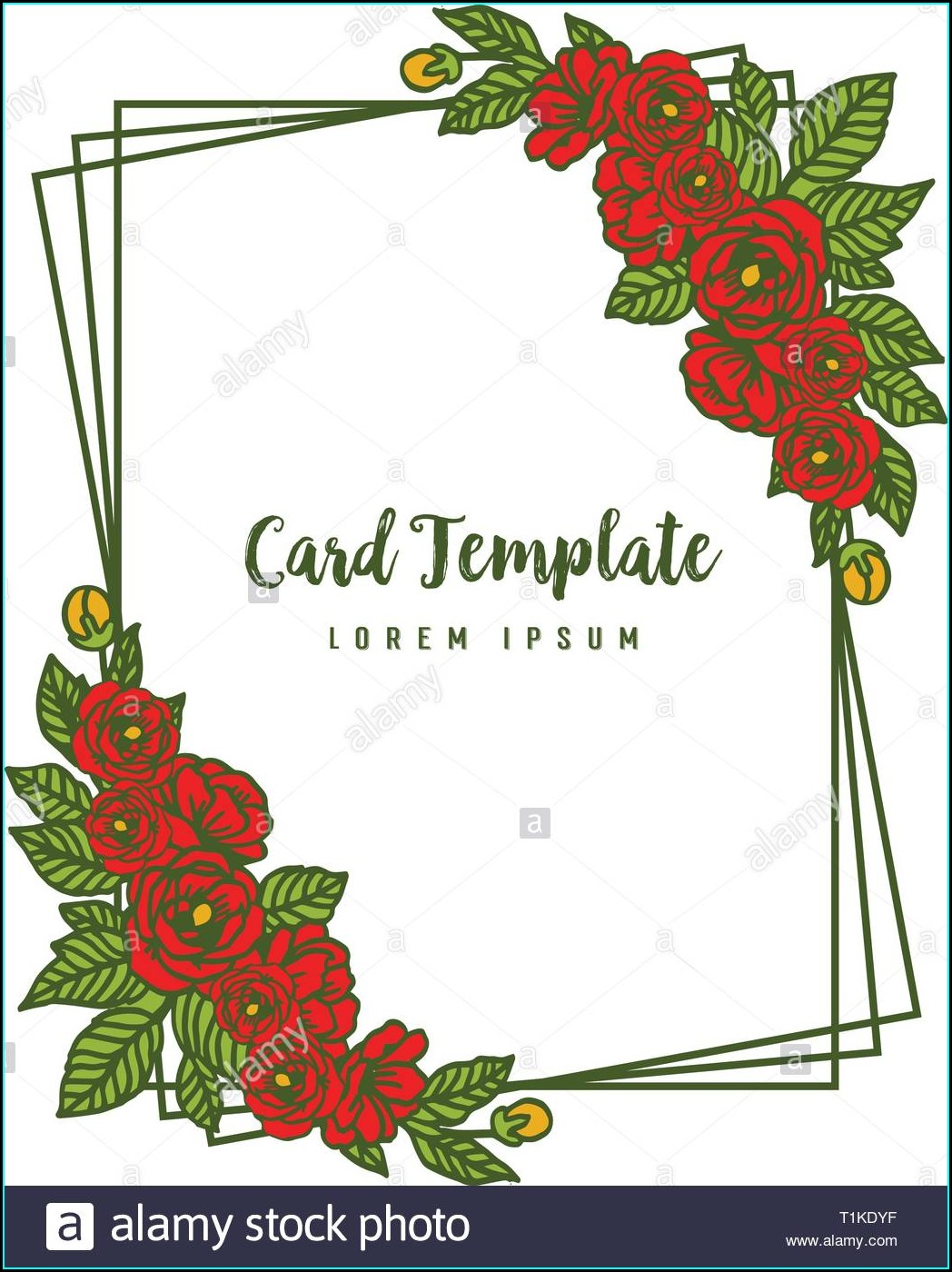 Red Rose Invitation Template