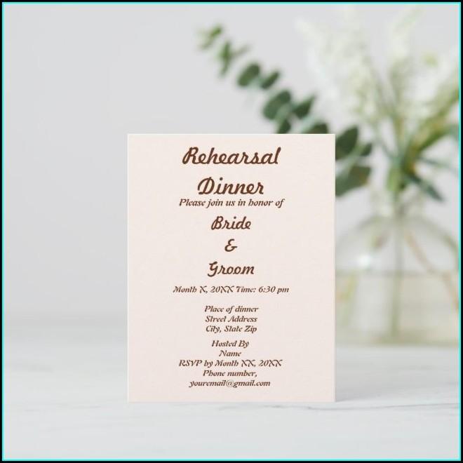 Rehearsal Dinner Postcard Invitations