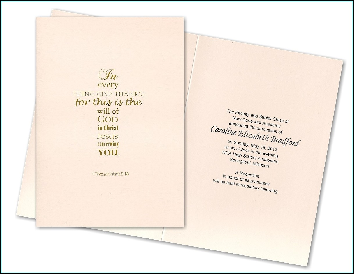 Religious Quotes For Graduation Invitations