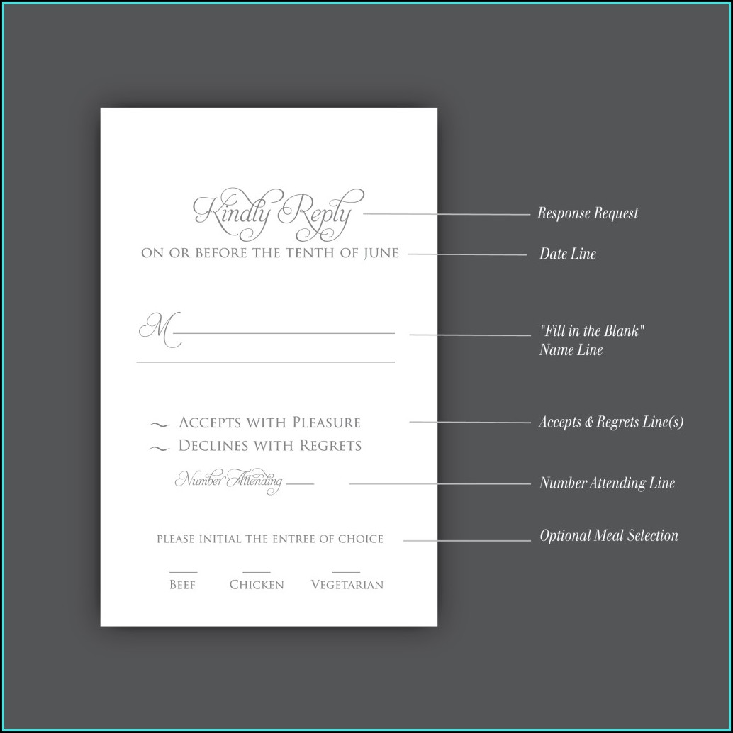 Responding To Wedding Invitation Rsvp