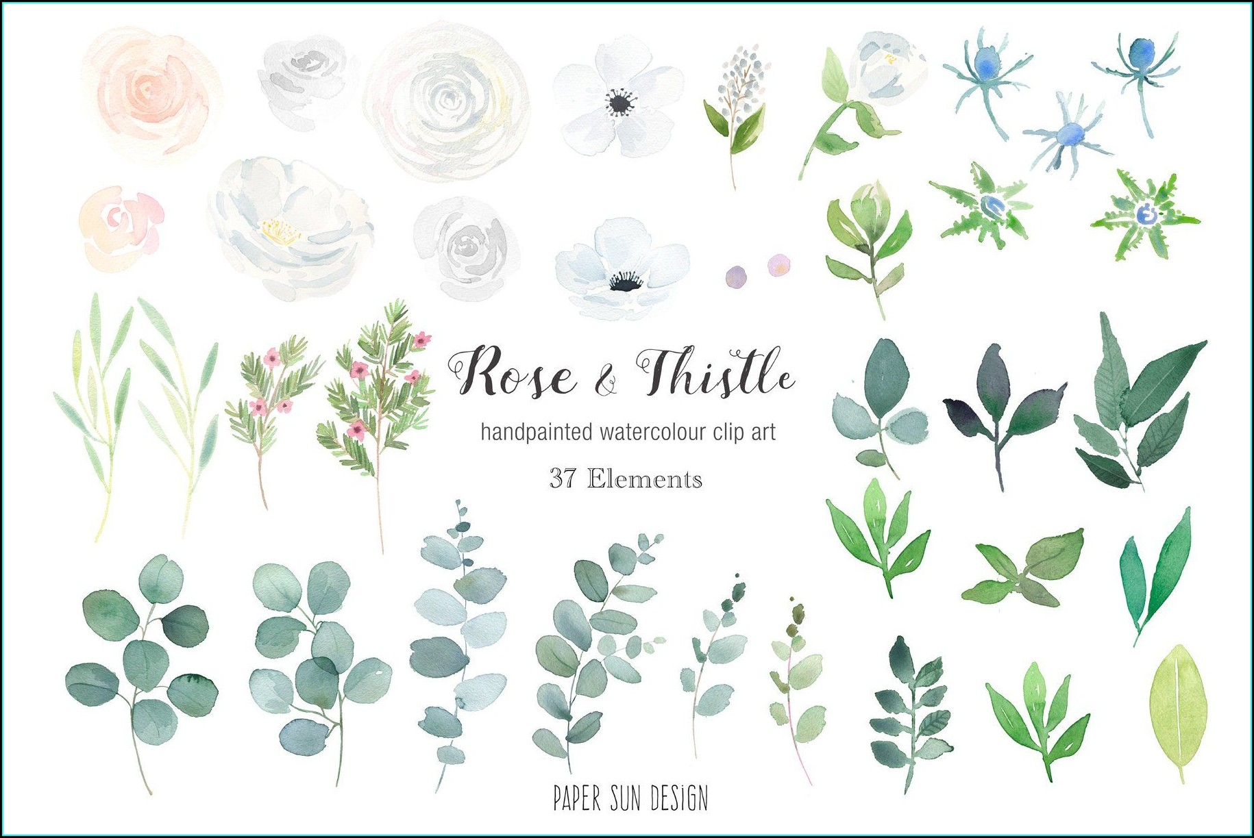 Rose And Thistle Wedding Invitations