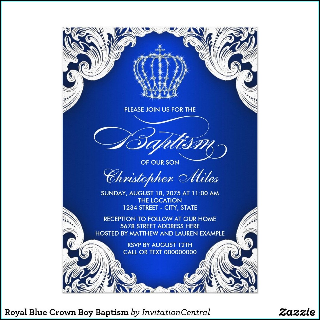 Royal Blue 18th Birthday Invitation Card Background Design
