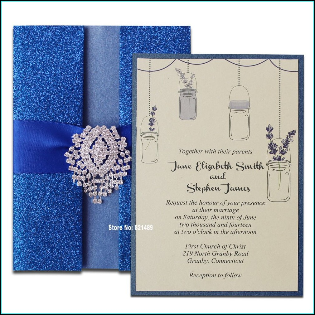 Royal Blue Invitation Card
