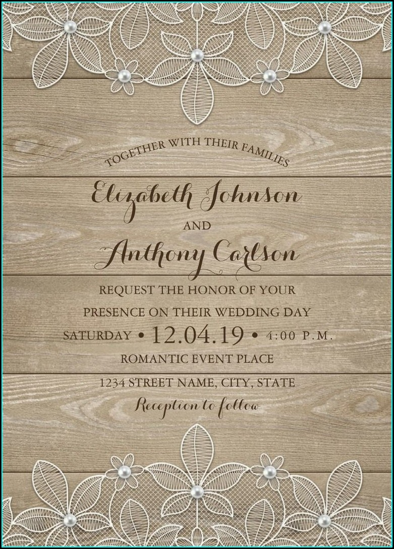 Rustic Wedding Invitation Background Hd