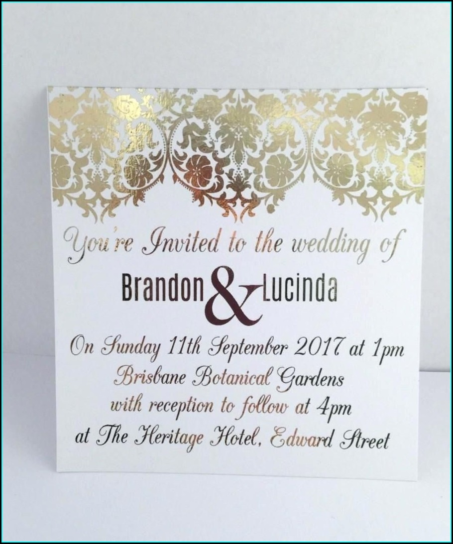 Sample Accommodation Cards For Wedding Invitations