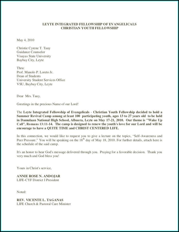 Sample Church Invitation Letter