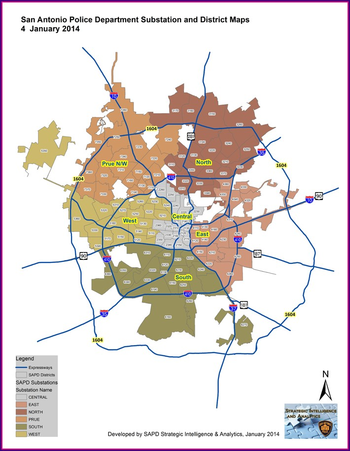 San Antonio Crime Map 2020