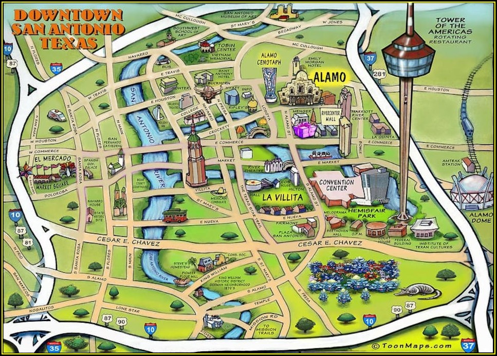 San Antonio Riverwalk Map App
