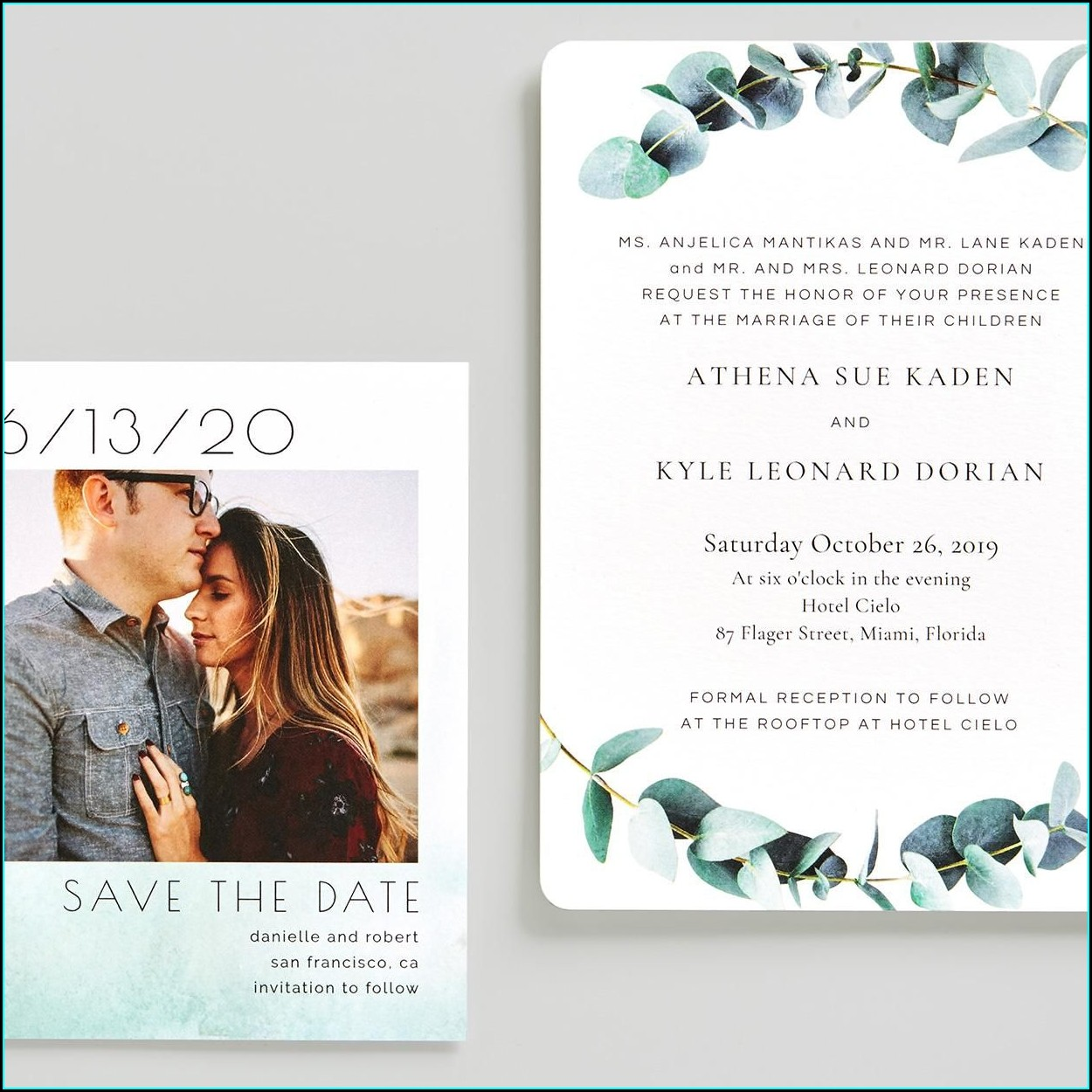 San Francisco Skyline Wedding Invitations
