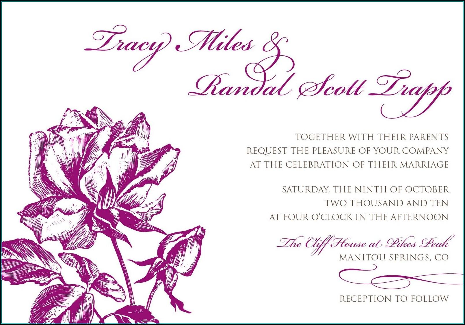 Sangria Color Wedding Invitations