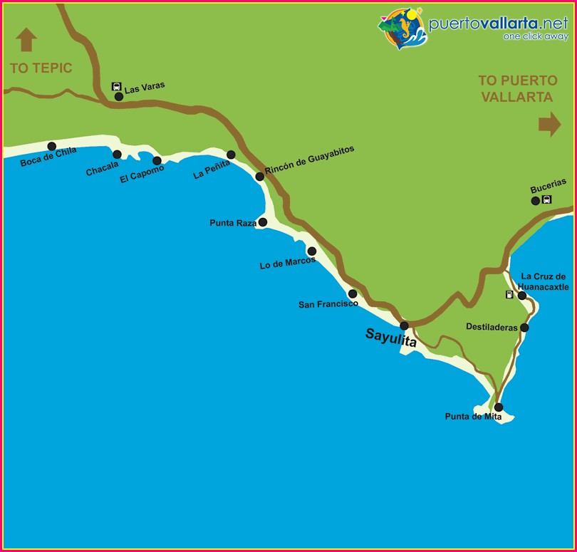 Sayulita Nayarit Mexico Map