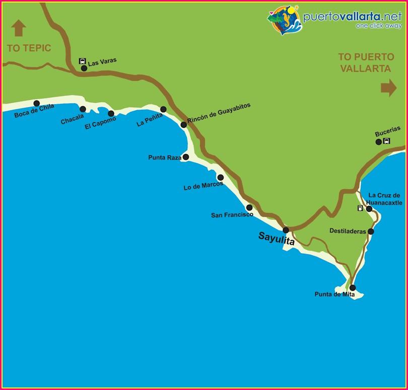 Sayulita Nayarit Mexico Map