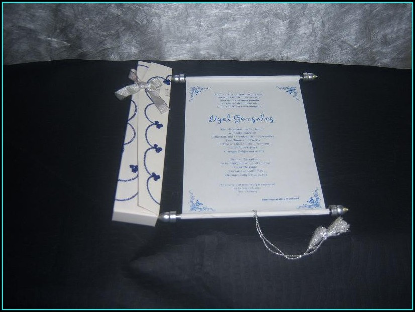 Scroll Invitations For Sweet 16
